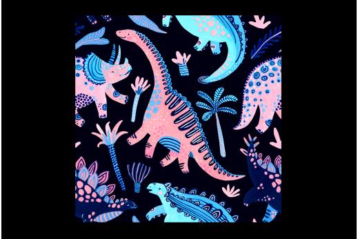 Картина Динозавры на темном фоне