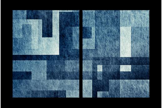 Модульная картина Синяя геометрия